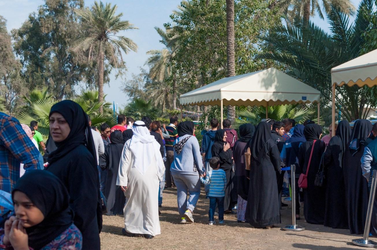 Food tents at Budaiya Famers' Market