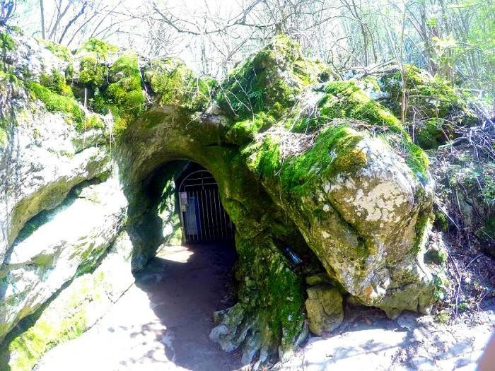 Това е входът на пещерата