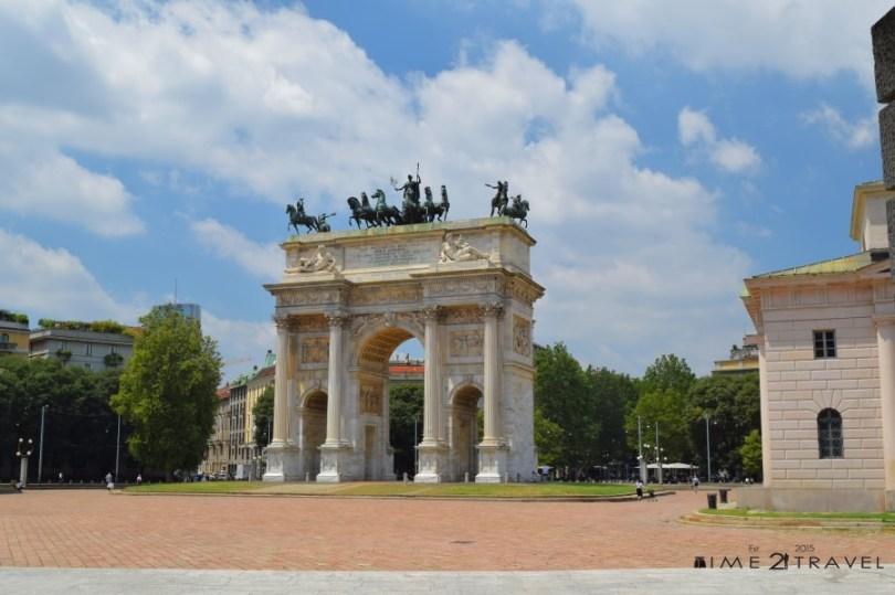 Арката на мира, Милано
