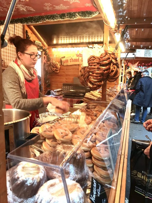 Bretzel Christmas market food