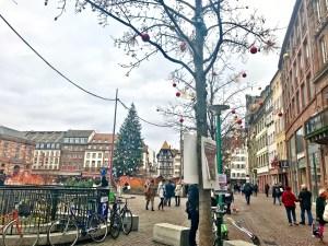 Strasbourg Christmas main square Christmas tree