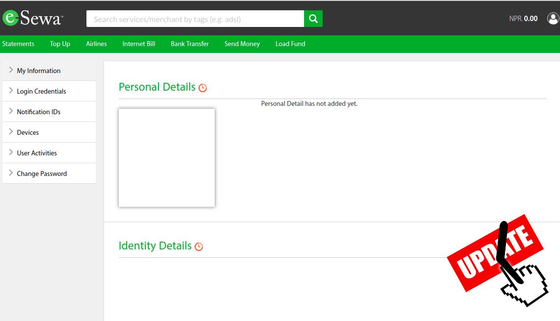 New Create eSewa Account - eSewa Verification Issue