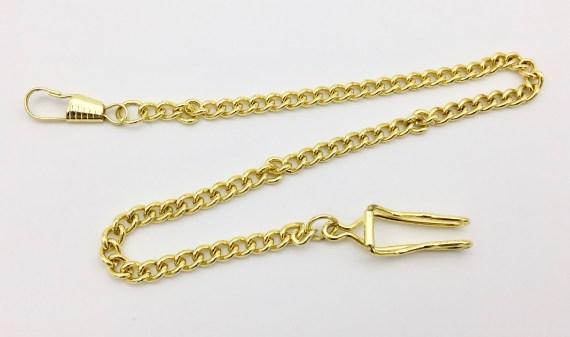 Modern Gold-Tone Pocket Watch Chain