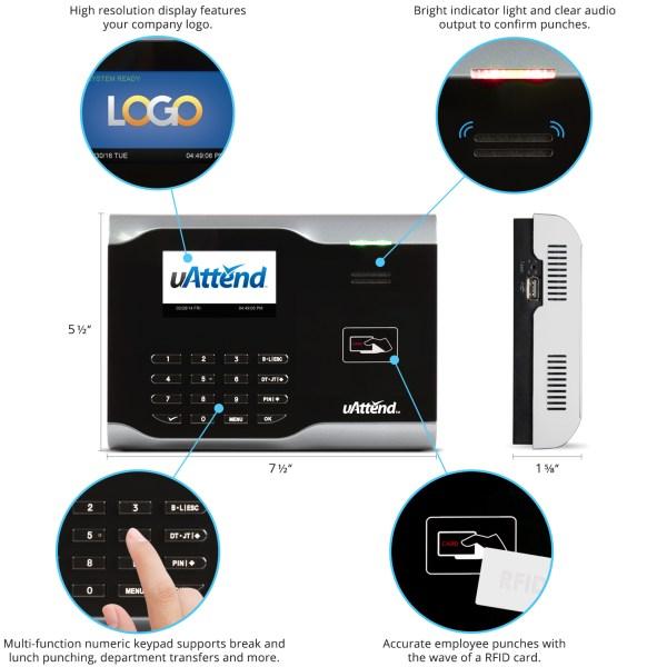uattend fingerprint time clock