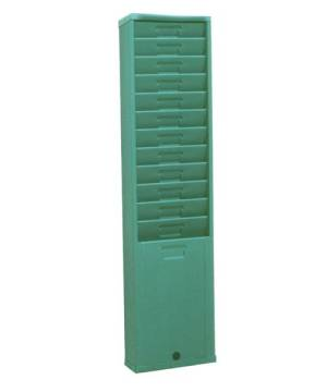 Time Card Rack: 12 Pocket, Style 175H