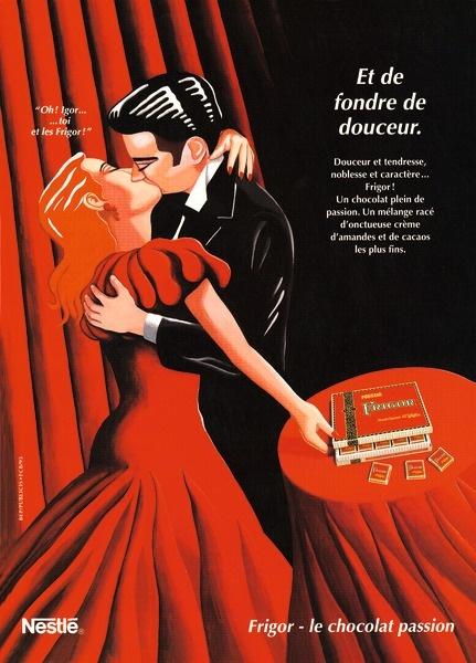 """Nestle, Cailler - """"Frigor - Le Chocolat Passion"""" Ad, circa ?"""