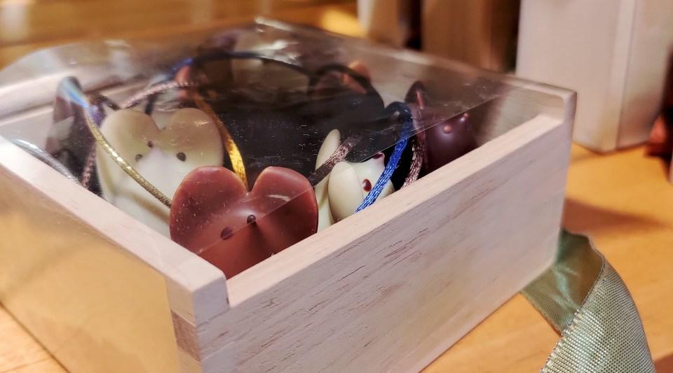 Box of chocolate mice