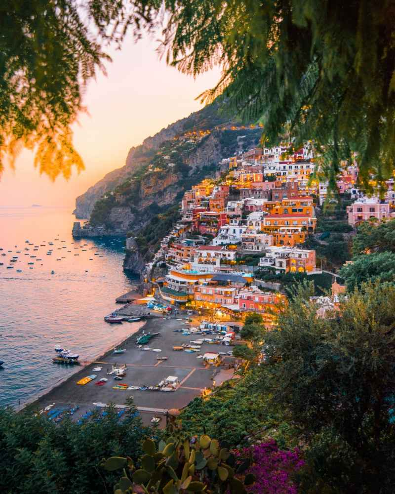 colorful cliffside village