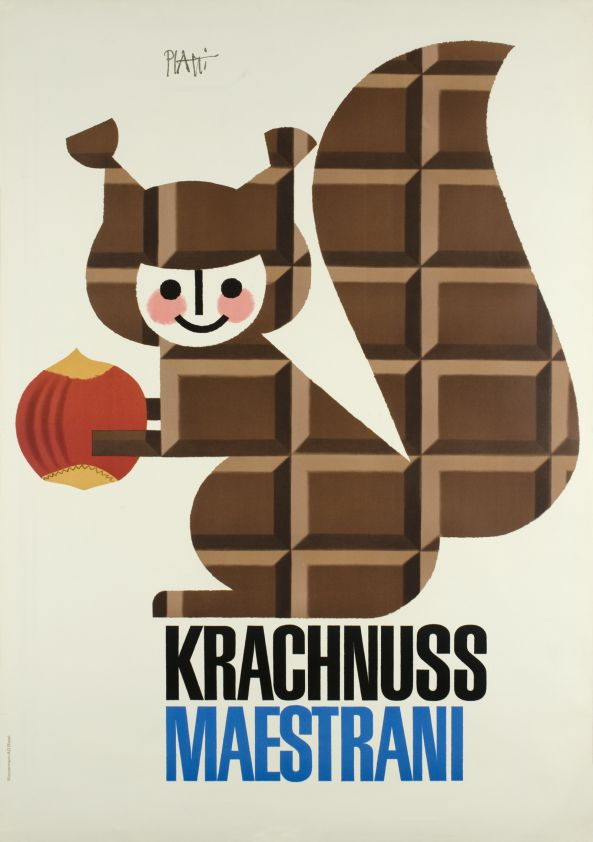Krachnuss Maestrani Chocolat, by Bender Paul, circa 1950s - Switzerland