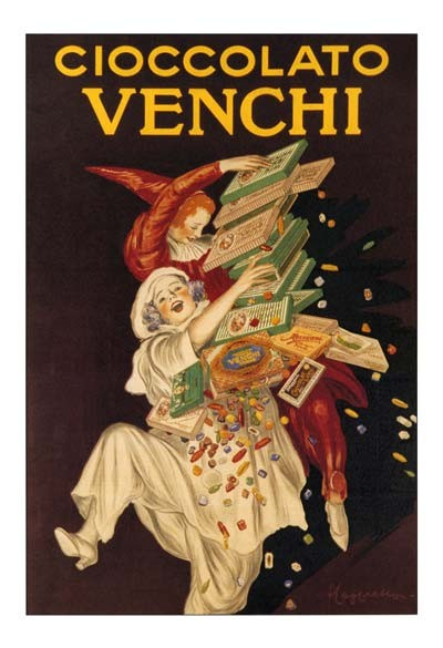 Cioccolato Venchi poster by Leonetto Cappiello, circa 1875, Italy