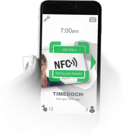 Easy NFC Time Tracking  with TimeDock Using NFC tags to clock into work with mobile phones