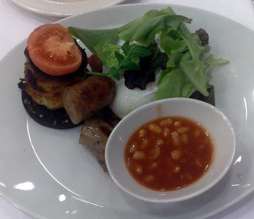Breakfast at Ambassadors hotel in Bloomsbury