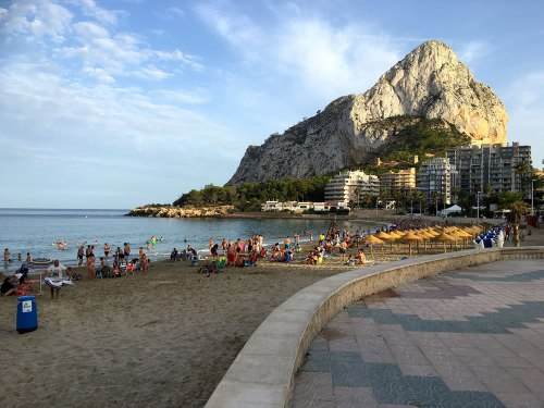 Calpe beach and Peñón de Ifach