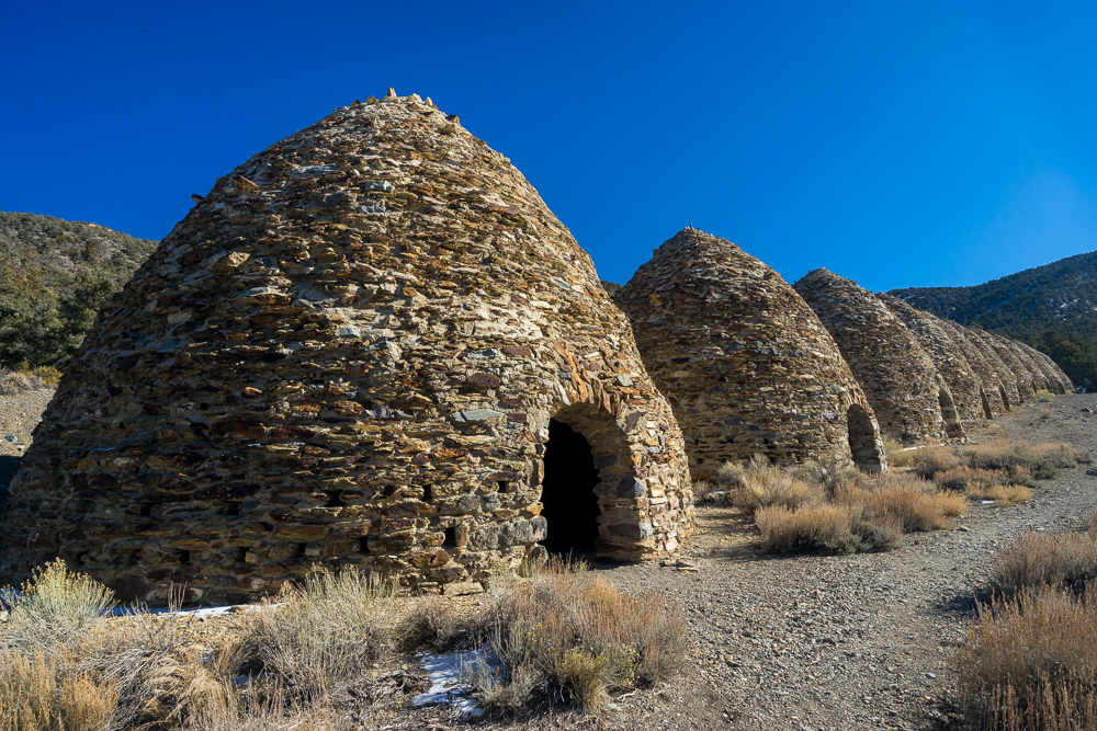 The historic beehive shaped Wildroase Charcoal Kilns.