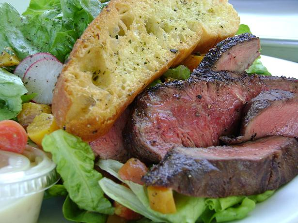 tender green steak salad