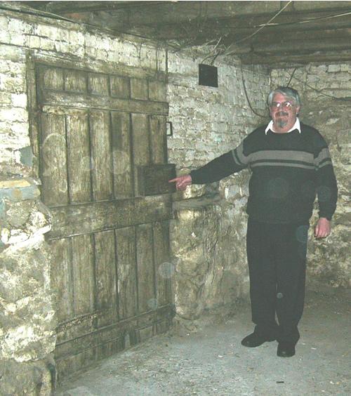 Kim Roberts in the 1825 pub cellar