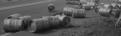 beer kegs road