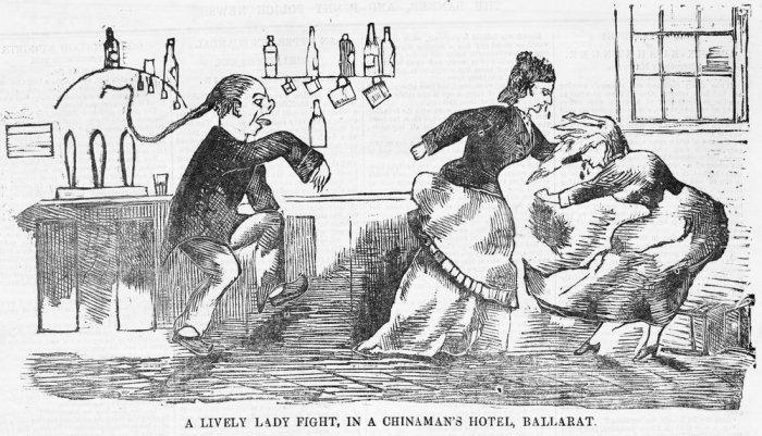 lively lady fight chinamans hotel ballarat 1876