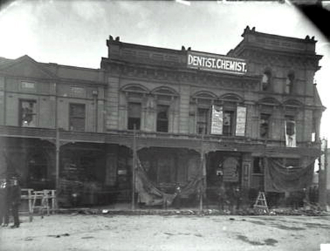 mansion house hotel derelict george street 1901