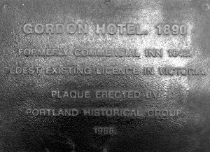 gordon hotel portland plaque