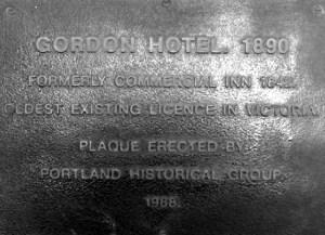 gordon hotel portland plaque