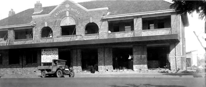 criterion hotel moree construction 1935