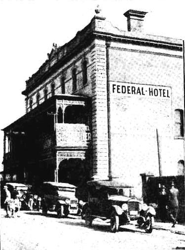 federal hotel 1927