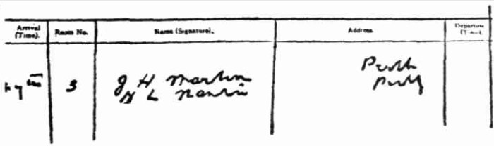 federal hotel fremantle registery 1927