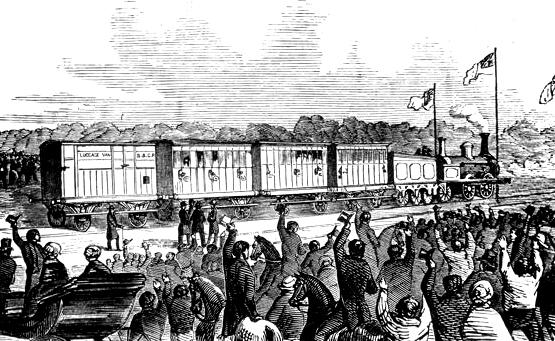 first train 1855