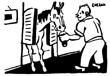 horse bar cartoon 1947