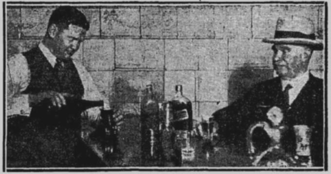 publican behind bar