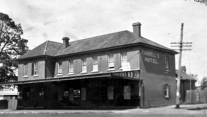 Rose and Crown Hotel Parramatta 1930 anu