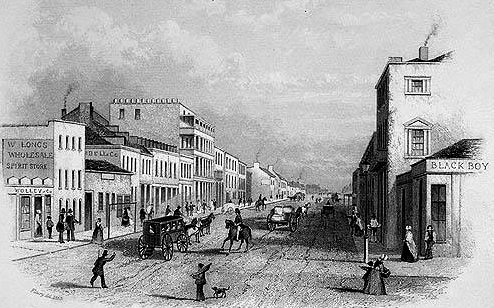 new black boy corner KIng and George Streets Sydney C1845