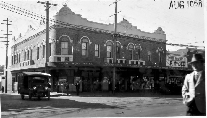 Bald Faced Stag Hotel Leichardt NSW August 1930 ANU