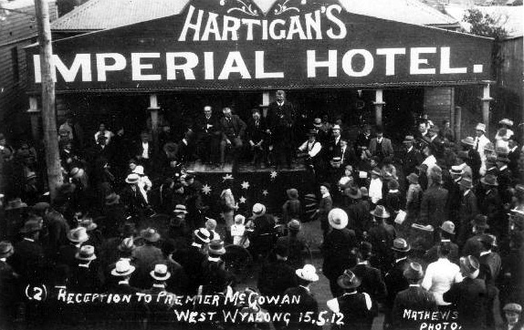hartigans imperial hotel west wyalong 1912