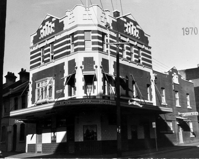 Belmore Park Hotel Surry Hills 1970 ANU