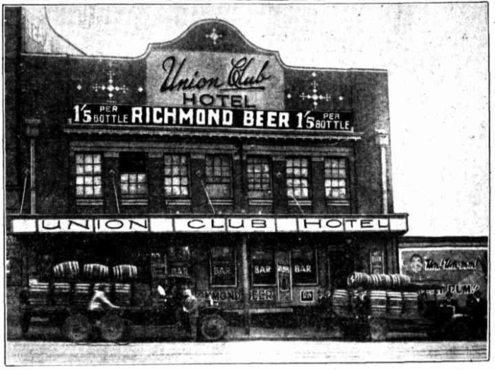 union club hotel brisbane 1930