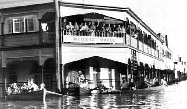 weileys hotel grafton flood 1950