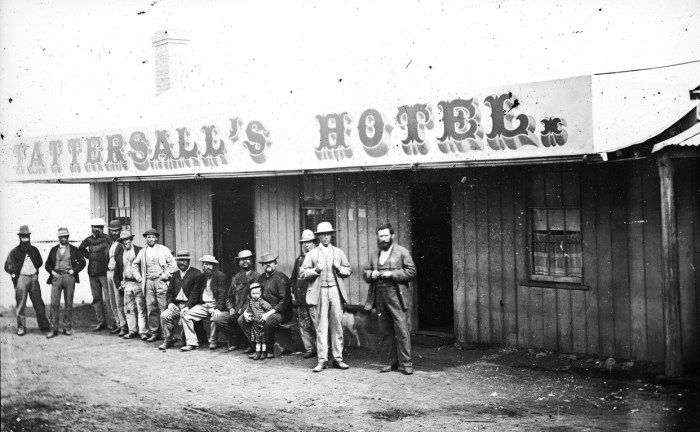 James Tattersalls Hotel Hill End NSW 1870s