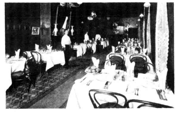 commercial hotel dining room wagga 1910