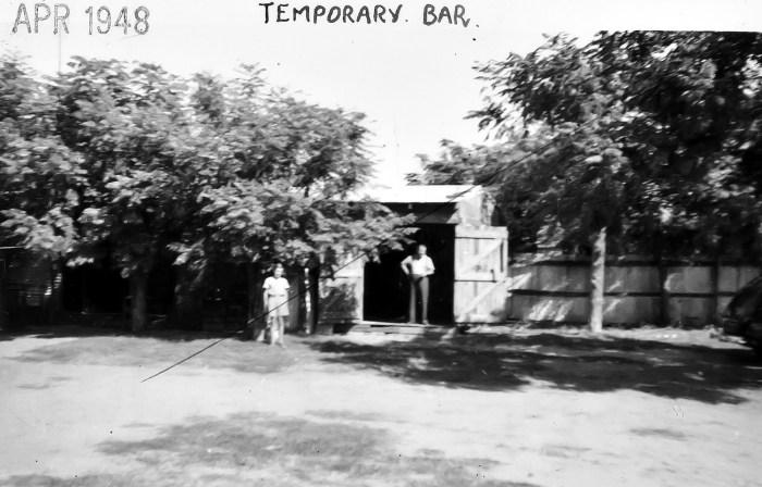 The Avenue Hotel temporary bar Coonamble April 1948 ANU