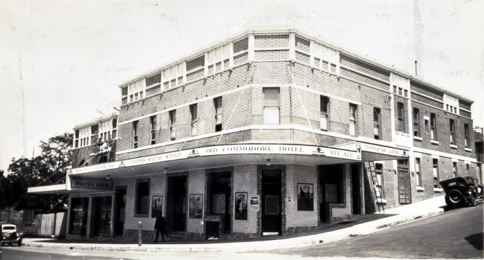 Old Commodore Hotel North Sydney January 1939