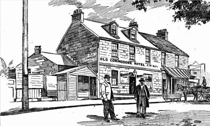 old commodore hotel north sydney Evening News 5 October 1901