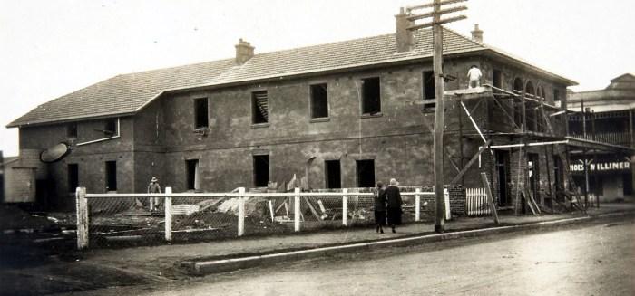 canowindra hotel under construction 1924