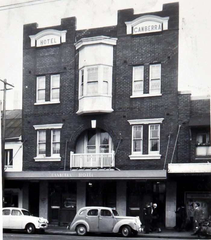 Canberra Hotel Paddington 1960 ANU