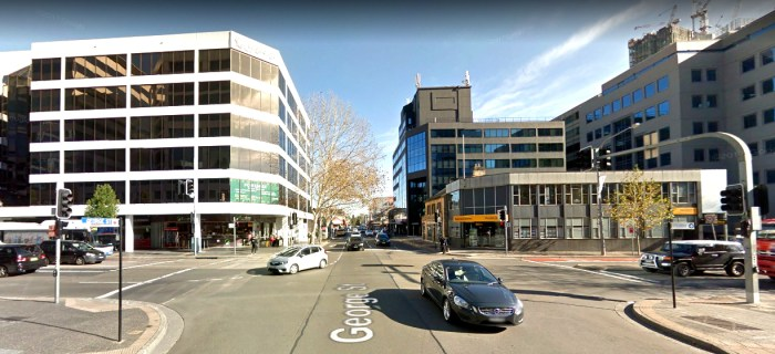 George and Smith Street Parramatta site of Lennox Hotel