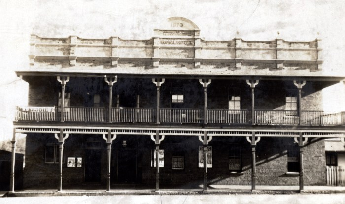 Royal Hotel Wallerawang 1925 anu