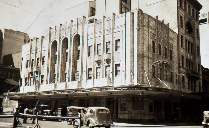 Criterion Hotel Pitt and Park Sts 1940 anu
