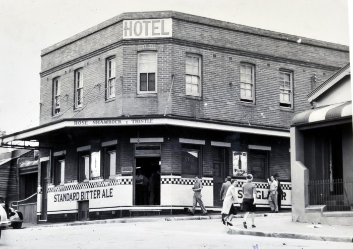 Rose Shamrock Thistle Hotel Rozelle 1949 anu