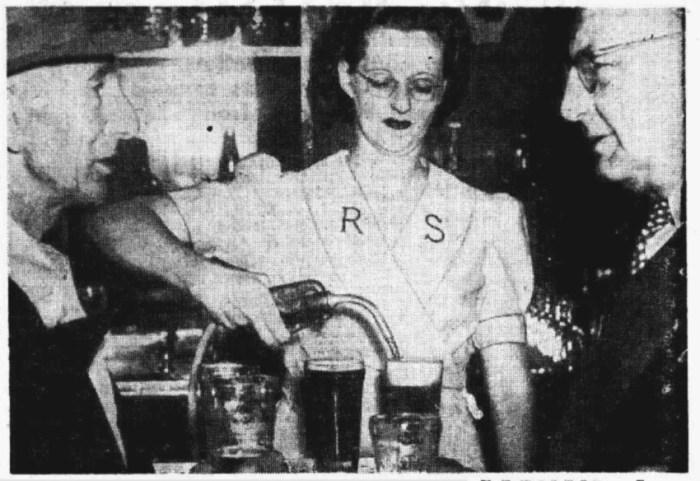 beer pump bondi junction hotel 1949